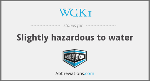 What does WGK1 stand for?