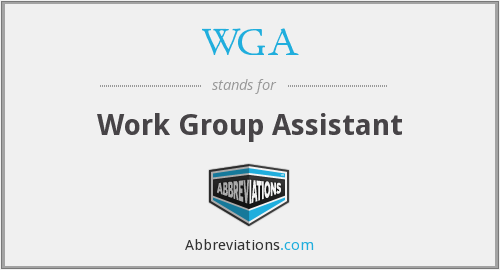 WGA - Work Group Assistant