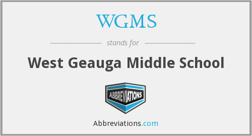WGMS - West Geauga Middle School