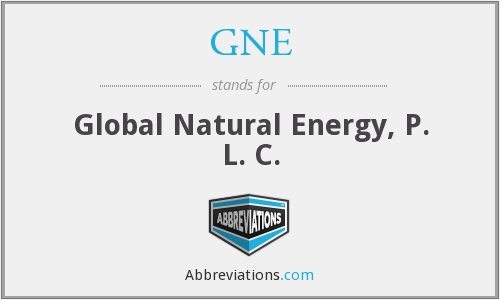 GNE - Global Natural Energy, P. L. C.