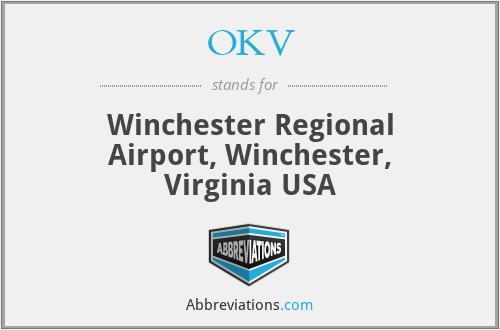 OKV - Winchester Regional Airport, Winchester, Virginia USA