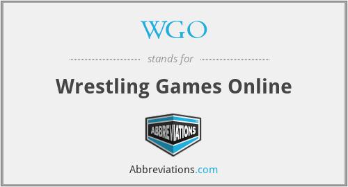 WGO - Wrestling Games Online