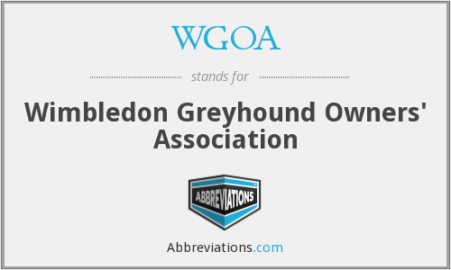 WGOA - Wimbledon Greyhound Owners' Association