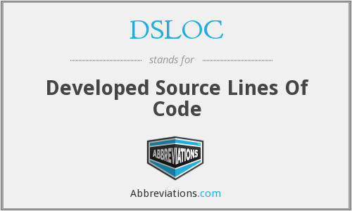 DSLOC - Developed Source Lines Of Code