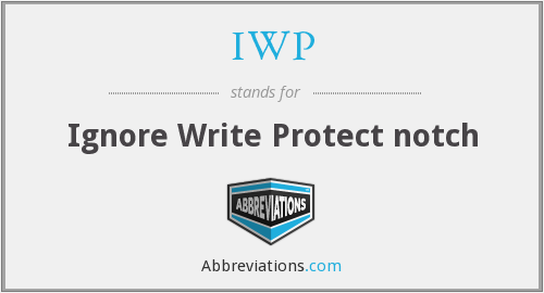 IWP - Ignore Write Protect notch