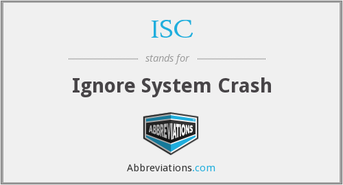 ISC - Ignore System Crash