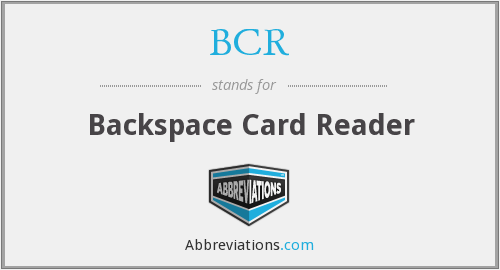 BCR - Backspace Card Reader