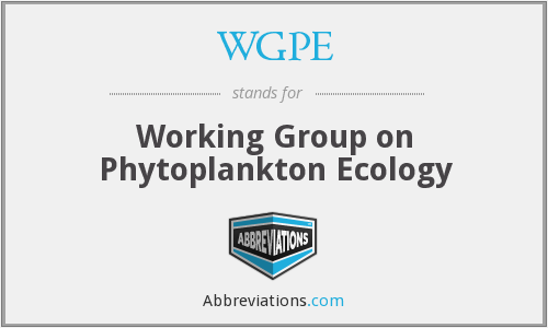 WGPE - Working Group on Phytoplankton Ecology