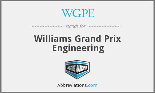 WGPE - Williams Grand Prix Engineering
