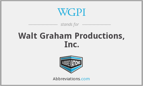 WGPI - Walt Graham Productions, Inc.
