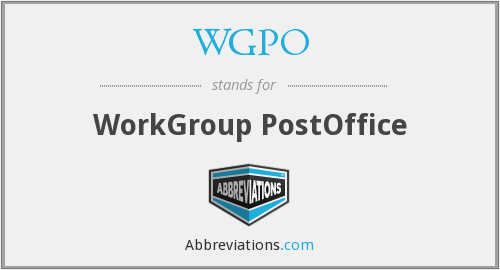 WGPO - WorkGroup PostOffice