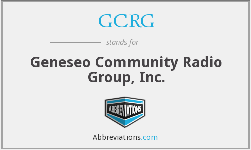 GCRG - Geneseo Community Radio Group, Inc.