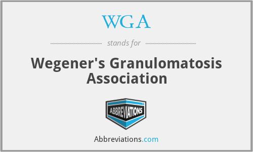 WGA - Wegener's Granulomatosis Association