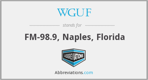 What does WGUF stand for?