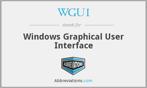 What does WGUI stand for?