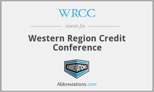 WRCC - Western Region Credit Conference