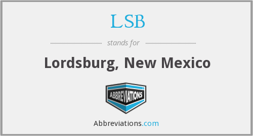 LSB - Lordsburg, New Mexico