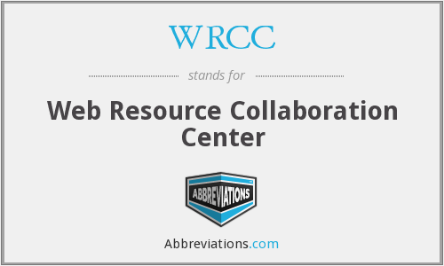 WRCC - Web Resource Collaboration Center