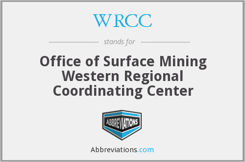 WRCC - Office of Surface Mining Western Regional Coordinating Center