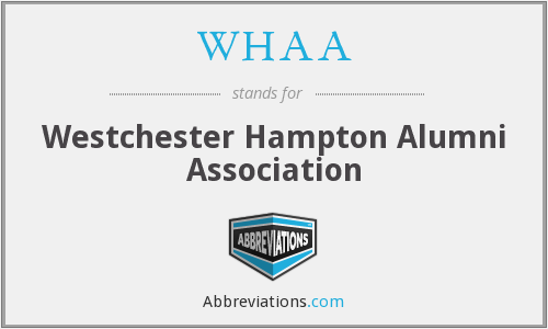 WHAA - Westchester Hampton Alumni Association