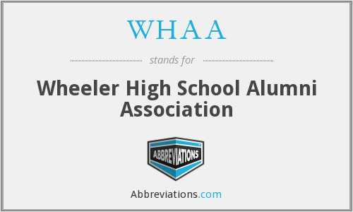 WHAA - Wheeler High School Alumni Association