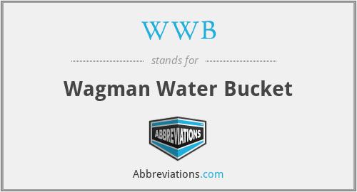 WWB - Wagman Water Bucket