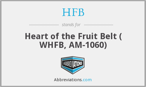 HFB - Heart of the Fruit Belt ( WHFB, AM-1060)