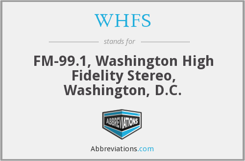 WHFS - FM-99.1, Washington High Fidelity Stereo, Washington, D.C.