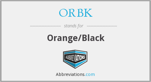 ORBK - Orange/Black