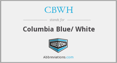 CBWH - Columbia Blue/ White