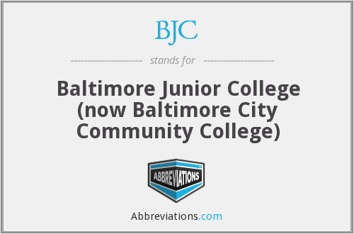 BJC - Baltimore Junior College (now Baltimore City Community College
