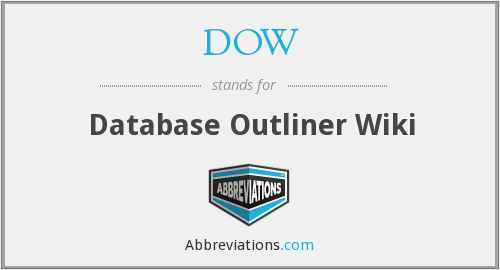 DOW - Database Outliner Wiki