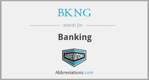 BKNG - Banking