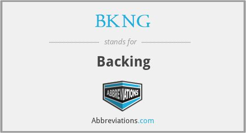 BKNG - Backing