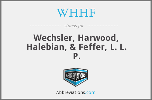 What does WHHF stand for?