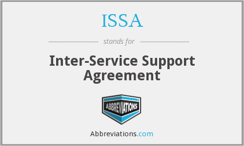 ISSA - Inter-Service Support Agreement