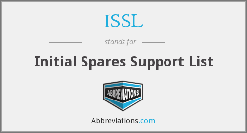 ISSL - Initial Spares Support List