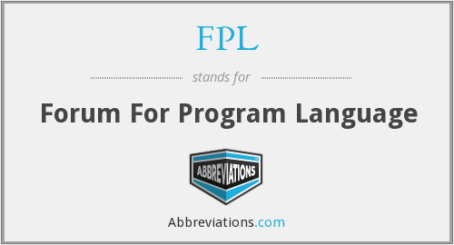 FPL - Forum For Program Language