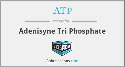 ATP - Adenisyne Tri Phosphate