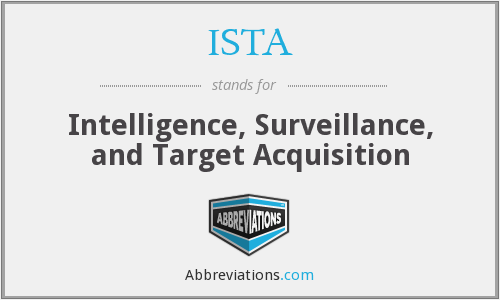 ISTA - Intelligence, Surveillance, and Target Acquisition