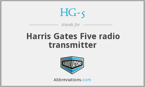 What does HG-5 stand for?