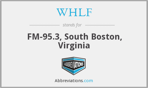 WHLF - FM-95.3, South Boston, Virginia