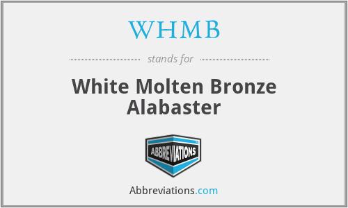 WHMB - White Molten Bronze Alabaster