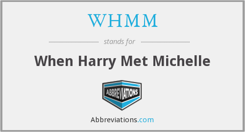 What does WHMM stand for?
