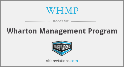 WHMP - Wharton Management Program
