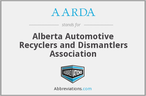AARDA - Alberta Automotive Recyclers and Dismantlers Association