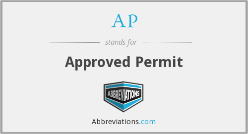 AP - Approved Permit
