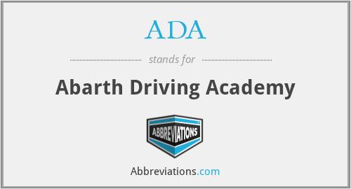 ADA - Abarth Driving Academy