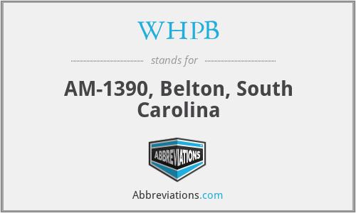 WHPB - AM-1390, Belton, South Carolina