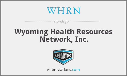 What does WHRN stand for?